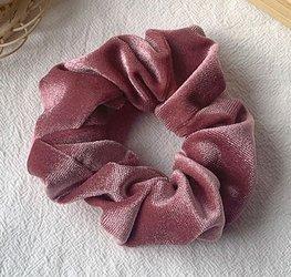 Scrunchie velours - Roze