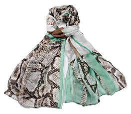 Sjaal snake print - Green