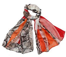 Sjaal snake print - Oranje rood