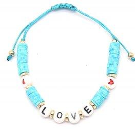 Katsuki armband love heart - Blauw
