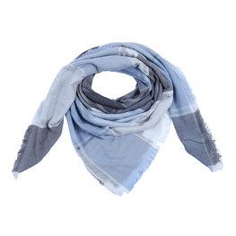 Sjaal blocks - Blauw