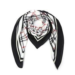 Silky feel sjaal ruit - Wit