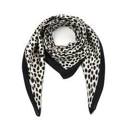 Silky feel sjaal animal - Zwart