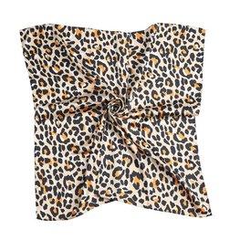 Silky feel sjaal leopard - Beige