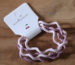 Kreukel elastieken - Roze