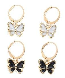 Oorbellen vlinder set/2