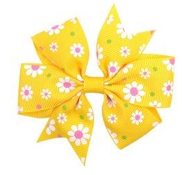 Haarspeldje  flower strik - Geel