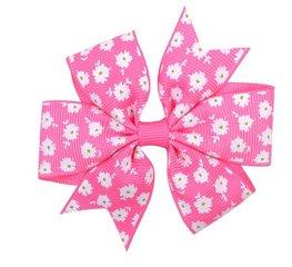 Haarspeldje  flower strik - Roze