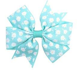 Haarspeldje  flower strik - Blauw