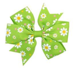 Haarspeldje  flower strik - Groen