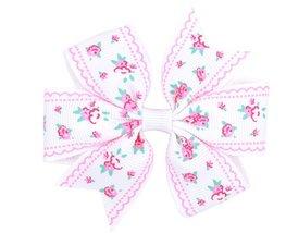 Haarspeldje  flower strik - Wit