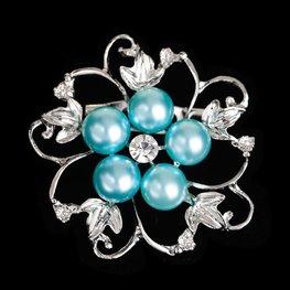 Broche flower - Blauw