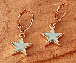 Oorbellen blue star