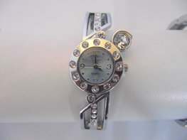 Klemband horloge (blauw)