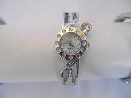 Klemband horloge (wit)