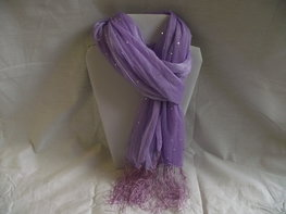 Paarse glitter shawl