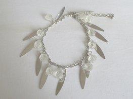 Enkelbandje zilver,blank