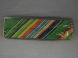 Elastische haarband geel/groen/oranje/blauw/wit