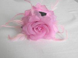 Haarklem met bloem (roze)