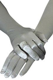 Bruids/gala handschoenen zilvergrijs