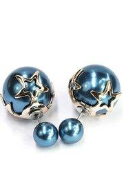 Double dots blauw met ster