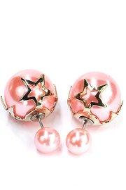 Double dots roze met ster