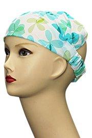 Bandana/haarband 3 in 1 bloem groen