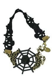 Vintage/gothic enkelbandje zwart (5)