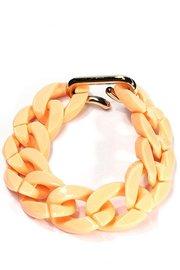 Schakel armband - zalm roze