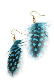 Veren oorbellen stip blauw/zwart