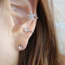 Ear cuff ster zilver