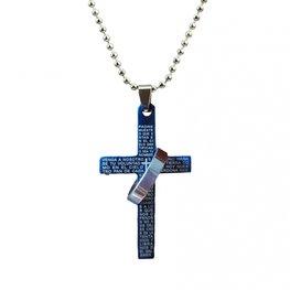 Ketting met blauw kruis