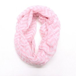 Col shawl chevron wit/roze