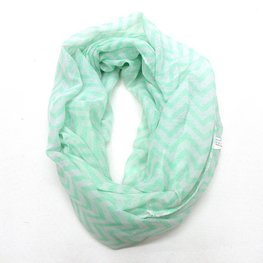 Col shawl chevron groen/wit