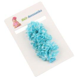 Elastische haarband blauw/wit