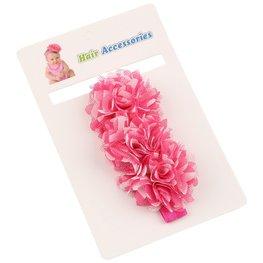 Elastische haarband roze/wit