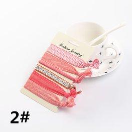 Ibiza elastiekjes - Hair tie - met glitter bandje (div kleuren)