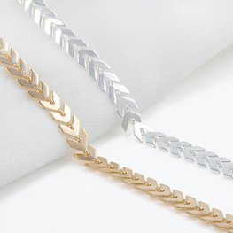 Enkelbandje chevron - goud