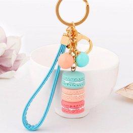 Tas/sleutel hanger macaron - Blauw