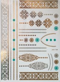 Flash tattoos armbanden/kettingen e.d - Goud/Zilver/Groen