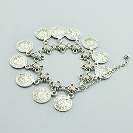 Enkelbandje coin - zilver