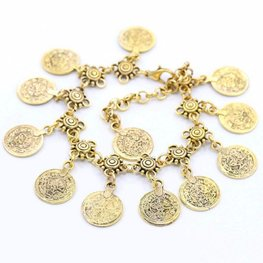 Enkelbandje coin - Goud