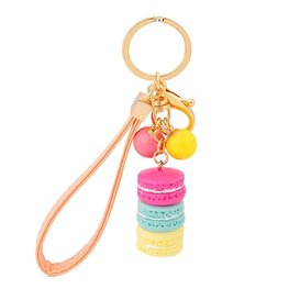 Tas/sleutel hanger macaron - Oranje