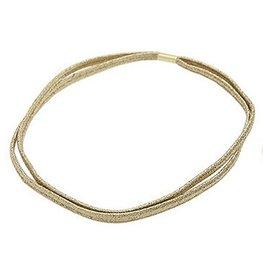 Dubbele elastische haarband - Goud