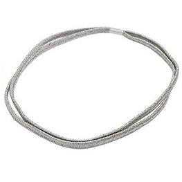 Dubbele elastische haarband - Zilver