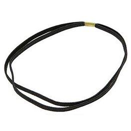Dubbele elastische haarband - Zwart