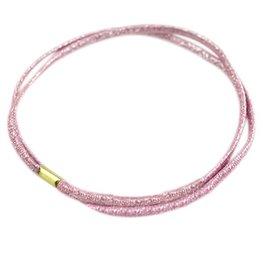 Dubbele elastische haarband - Roze