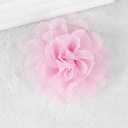 Haarspeldje organza bloem - roze
