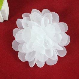 Haarspeldje organza bloem - Wit