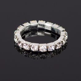 Elastische strass ring